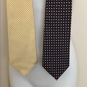 Lot of 2 Brooks Brothers silk ties